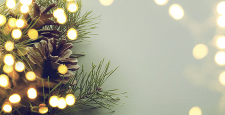 christmas decorations: christmas tree light Stock Photo