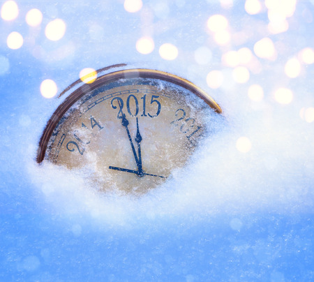 art 2015 christmas and new years eve clock