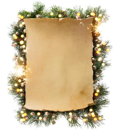 アート冬クリスマス フレーム 写真素材 - 34032616