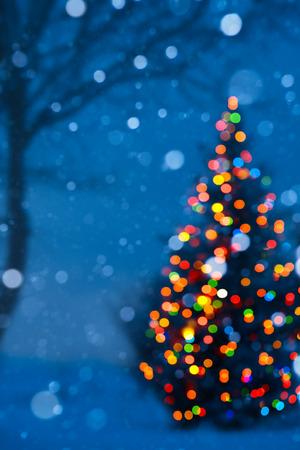 christmas tree light Archivio Fotografico