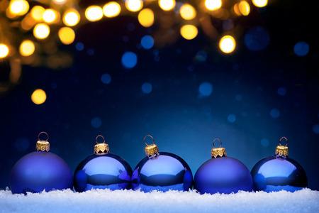 blue christmas: Christmas night