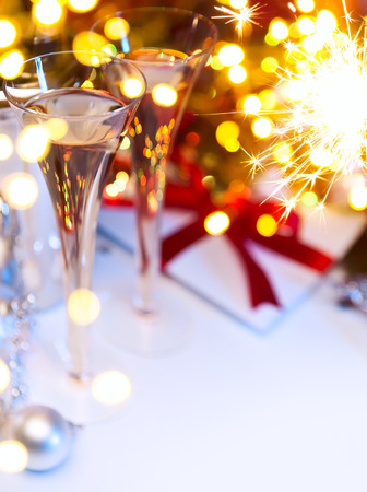 invitacion fiesta: Arte Navidad o a�o nuevo partido Foto de archivo