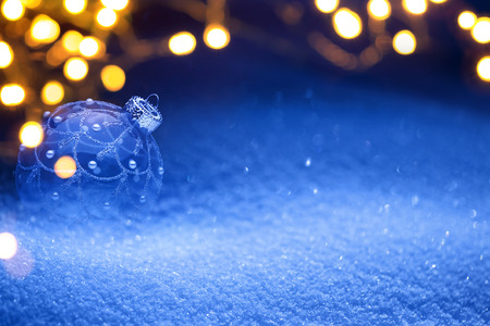 blue christmas background: Christmas snow background