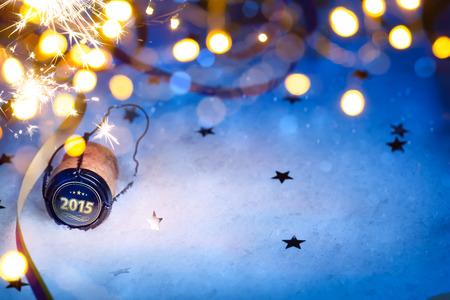 Arte do Natal e 2015 New fundo Partido do ano