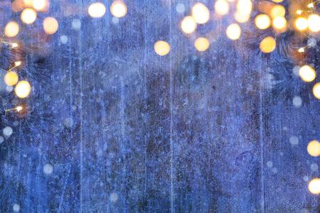 New Year: Boże Narodzenie zima tło