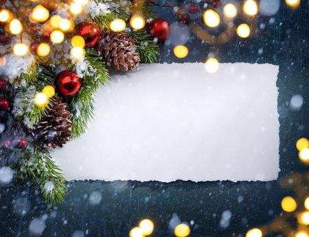 christmas cards: christmas tree light Stock Photo