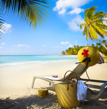 Art Vacation on summer Beach Paradise