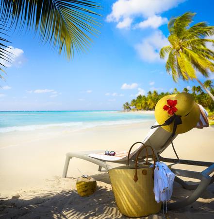 Art férias na praia do verão Paraíso