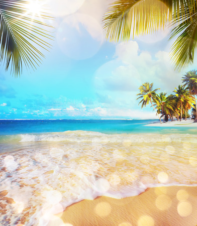 Art Paradise nature, summer sea tropical beach