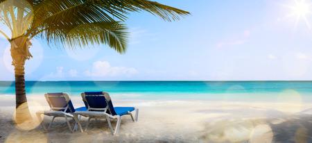playa vacaciones: vacaciones de arte en el mar, de fondo Foto de archivo