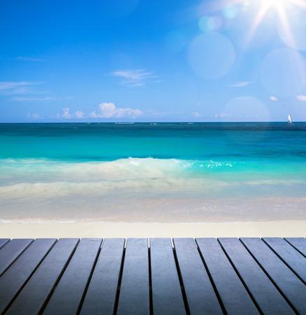 seashore: Art beautiful seaside view background