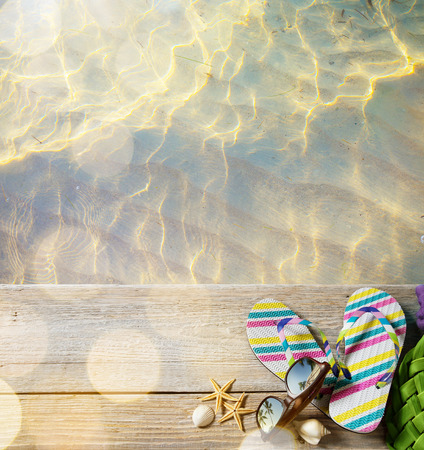 ar beach summer;  beach accessories Stock Photo - 40913477