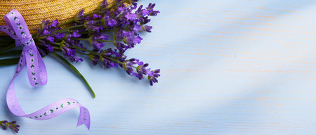wood backgrounds: the aroma of Provence Stock Photo
