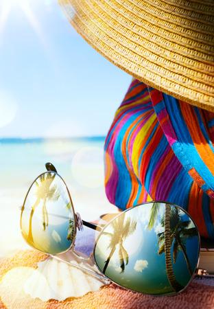 アート トロピカルビーチ 写真素材