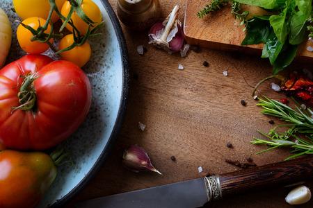 cocinando: alimentos arte y fondo de cocci�n