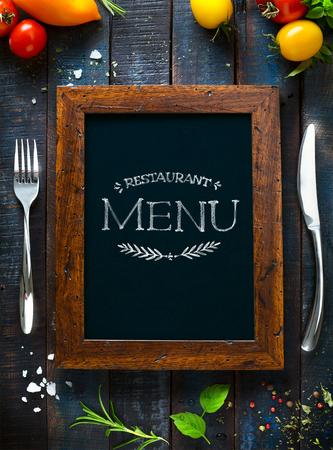 background cover: Restaurant cafe menu, template design. Food flyer