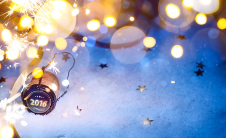 nowy rok: sztuki Boże Narodzenie i Nowy Rok 2016 strona tła Zdjęcie Seryjne