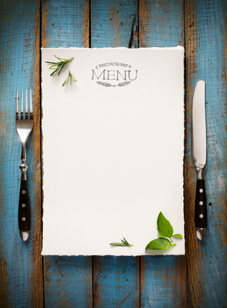 Restaurant-Café-Menü-Vorlage Design. Essen Flyer Standard-Bild - 45986717