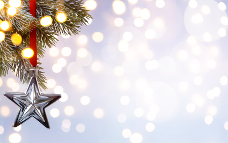 Christmas holiday background; tree light Stock Photo