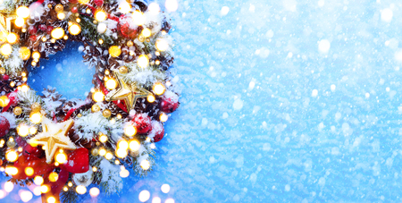 art christmas tree light Banque d'images