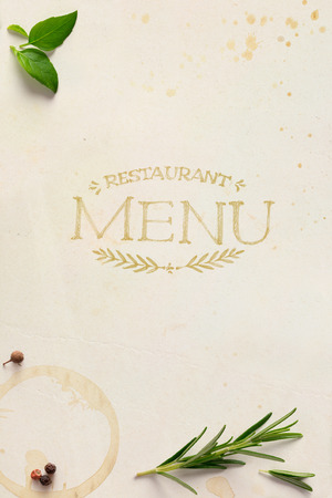 Traditional Italian home restaurant menu background