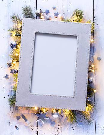 christmas garland: Art Christmas holidays decoration background Stock Photo