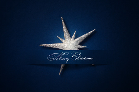 christmas stars: Christmas background with a silver ornament, christmas stars