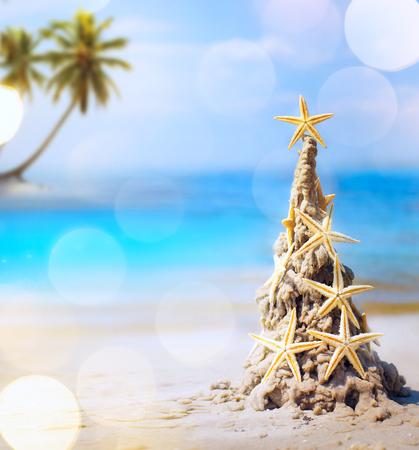 tropical christmas: art tropical Christmas holiday