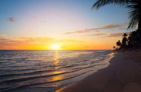 seascapes: Art Beautiful sunrise over the tropical beach