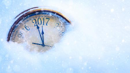 reloj: arte 2017 felices año nuevo vísperas de fondo