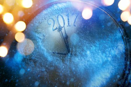 Art 2017 nouvelles années heureuses veille fond Banque d'images - 63236424