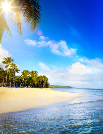 Summer tropical Beach; Peaceful vacation background Reklamní fotografie - 69542191