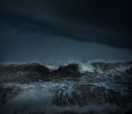 Dark tropical sea stormy background Фото со стока