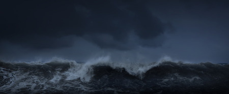 Dark sea stormy background