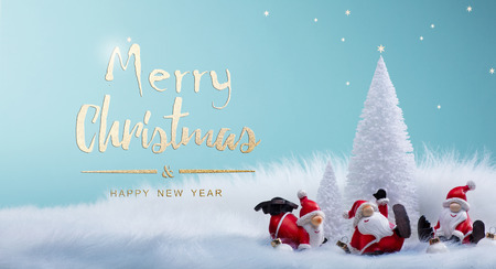 Christmas tree and holidays Santa decoration ornaments