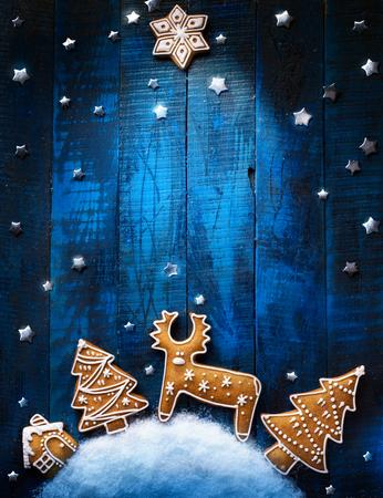 Vacances de Noël ornement plat poser; Fond de carte de Noël