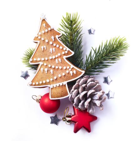 Christmas element on white