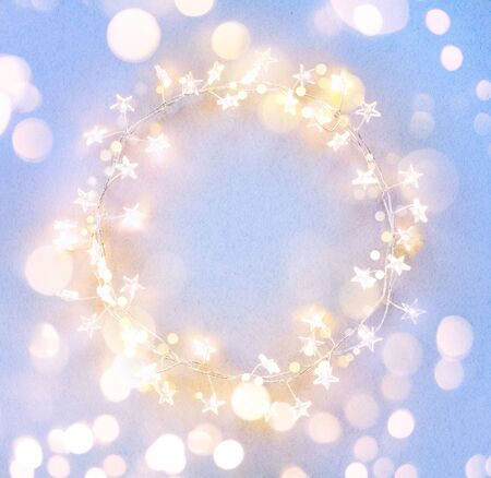 Xmas tree garland lights, holiday festive
