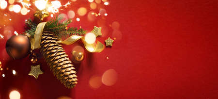 Merry Christmas and happy New Year background Stockfoto