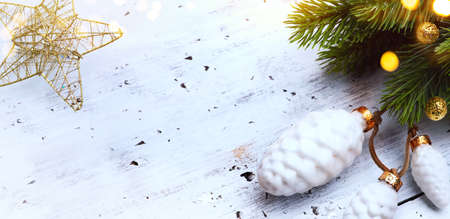 Merry Christmas and Happy New Year banner Background Stockfoto