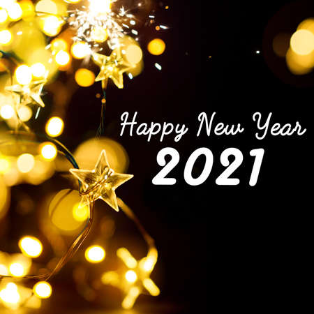 A Abstract 2021 Happy New Year banner or greeting card background