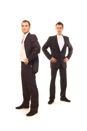 two successful businessmen isolated on white Stock Photo - 3298155