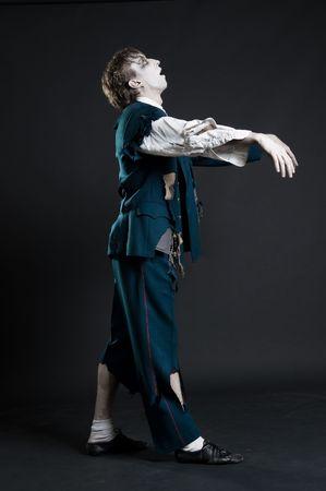 deadman: comic deadman walking against dark background Stock Photo