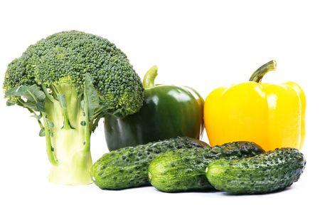 fresh vegetables isolated on white background Stock Photo - 4022354