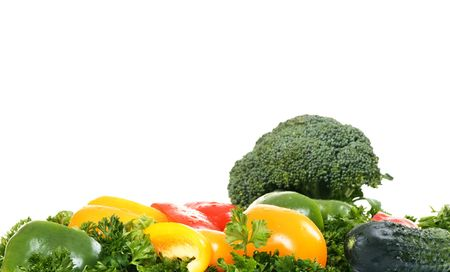 fresh vegetables with copyspace isolated on white background Stock Photo - 4022332