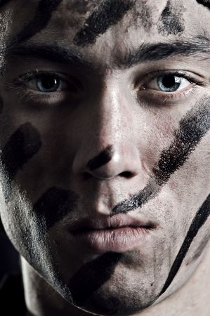 closeup portrait of young soldier Stock Photo - 4004253