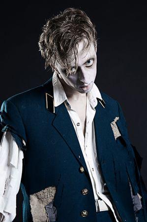 deadman: revived deadman over dark background Stock Photo