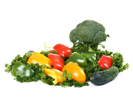 vegetables island isolated on white background Stock Photo - 4022343