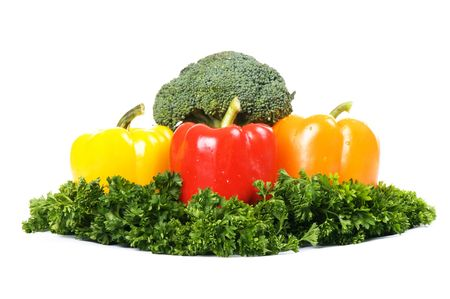 vegetarian composition isolated on white background Stock Photo - 4022339