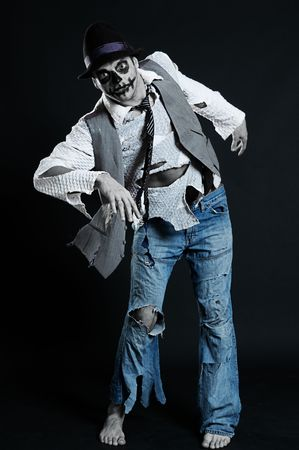 spooky man in rags from nightmare  photo